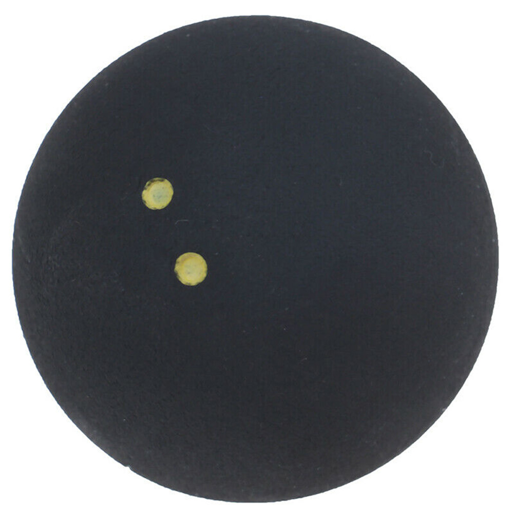 Small Elasticity Round Durable Bounce Training Two Yellow Dots Squash Ball Sports 4cm Low Speed Professional Player Rubber Tool