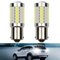 2X светодисветодиодный Canbus 1156 P21W BA15S 7443 W21W 33SMD Canbus P21W светодиодный 3156 3157 7440 Лампа для фонасветильник заднего поворота без ошибок