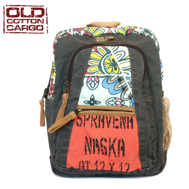 Old Cotton Cargo 5104 Elton Casual Bookbag 13 ''Laptop Tablet Bag Canvas Vintage Backpack Student Rucksack Daypack To Textbook