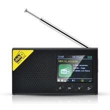 Портативное Bluetooth цифровое радио DAB/DAB + и fm-приемник перезаряжаемое легкое домашнее радио