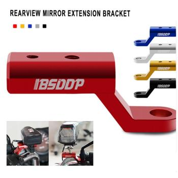 Motorcycle Bike Mirror Mount Holder Riser Extender Adapter Aluminum Rearview Extension Bracket Accessories