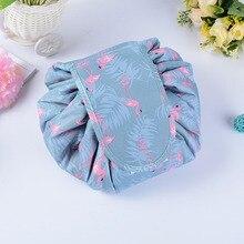 Animal Flamingo Pillow Cosmetic Bag Professional Drawstring Makeup Case Women Travel Make Up Organizer Storage Pouch Toiletry