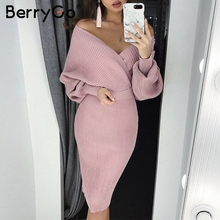 bodycon female women knitted