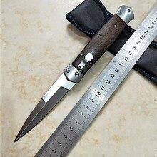 Cuchillo plegable de bolsillo, hoja fija afilada, táctico, caza, Campamento, supervivencia, cuchillo con funda