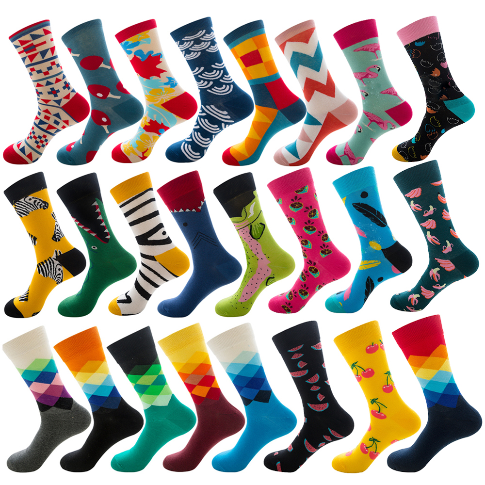 Hip Hop Men Fashion Socks Cotton Funny Crew Socks Animal Fruit Dog Women Socks Novelty Gift Socks For Winter Autumn Happy Socks