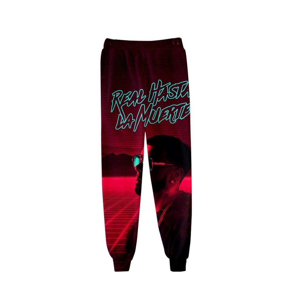 Anuel AA Trousers Men Women Hip Hop Mens Joggers 3D Real Hasta La Muerte Print Pants Harajuku Sweatpants Men Streetwear Casual