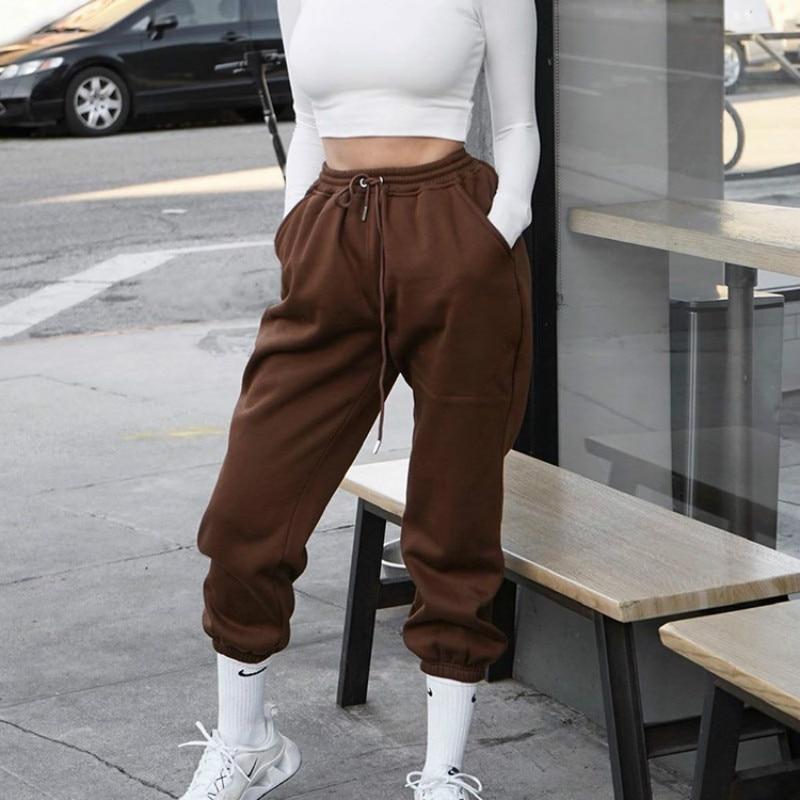 NCLAGEN Women Joggers Korean Style Pockets Solid Color Sweatpants Streetwear Hip Hop Woman Long Pant 2020 Hip Hop Jogging Capris