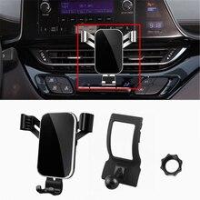 Telefon standı Toyota C HR 2017 2018 araba hava firar cep telefonu cep telefonu tutucu standı Cradle klip CHR 2017 2018 2019