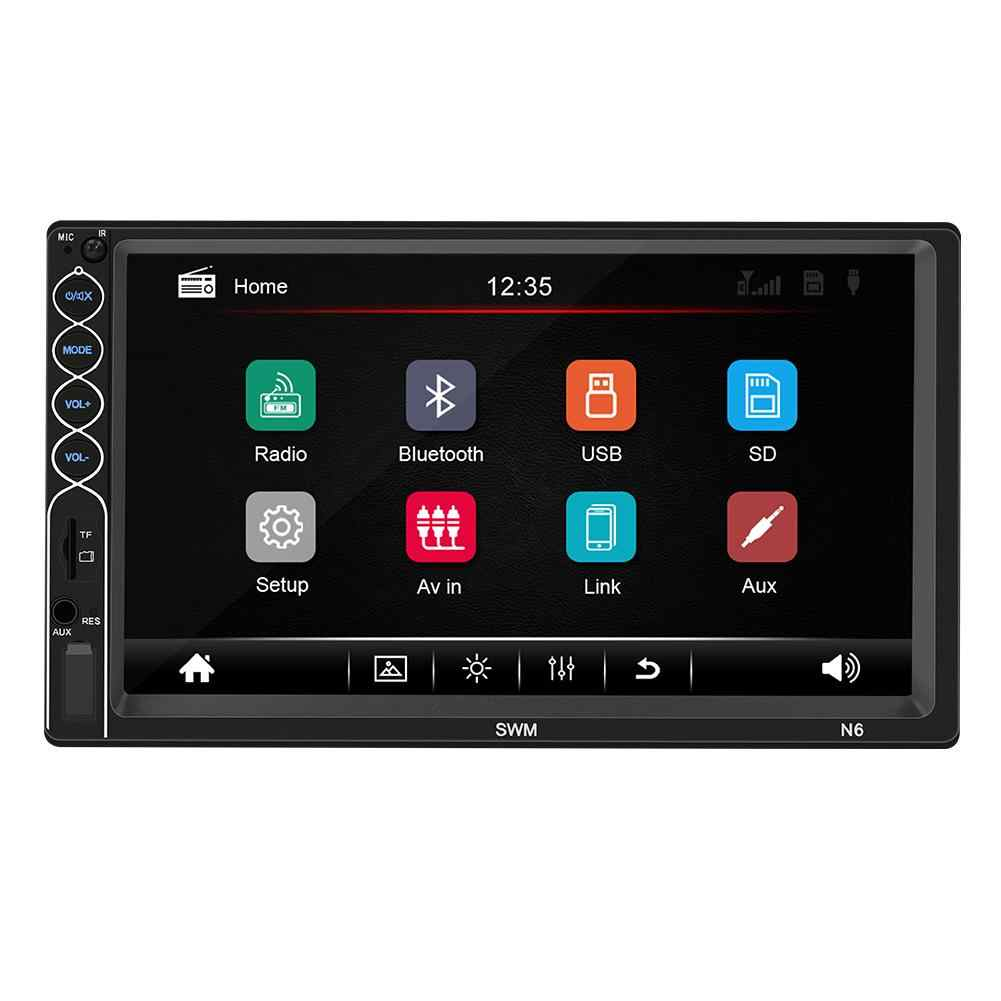 Car Radio 7 Inch Bluetooth Stereo Radio Media Touch Screen Player 2 Din HD Mp5 Player Supports For IOS/ Android Phone Mirror