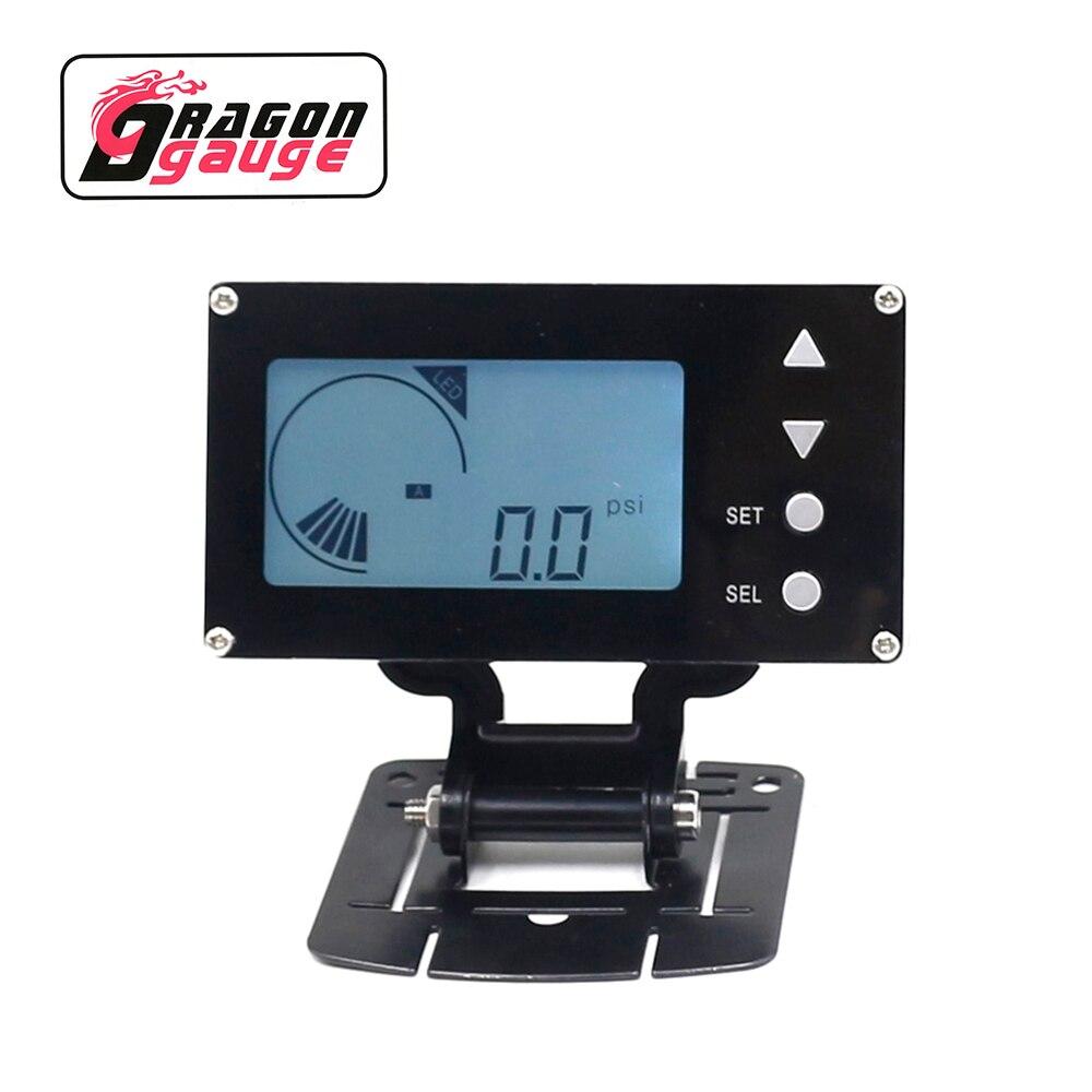 Электронный турбо-контроллер DRAGON evevc, ЖК-цифровой дисплей и электронный клапан, Автомобильный датчик с Предупреждение
