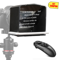 Bestview T1 Smartphone Teleprompter for YouTube Interview Video Canon Nikon Sony DSLR Camera Photo Studio with remote control