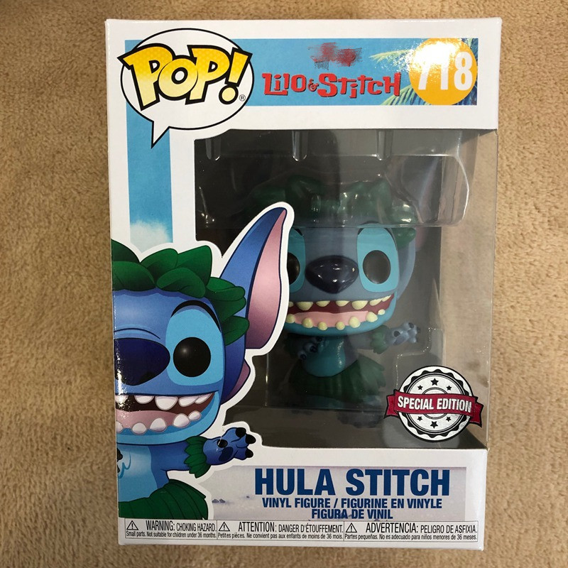 Exclusive Official Funko Pop Lilo & Stitch - Hula Stitch #718 Vinyl Action Figure Collectible Model Toy
