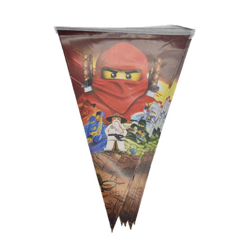 Ninjago موضوع حفلة الديكور النينجا المائدة ورقة كأس لوحة منديل استحمام الطفل بالون الاطفال حفلة عيد ميلاد لصالح لوازم