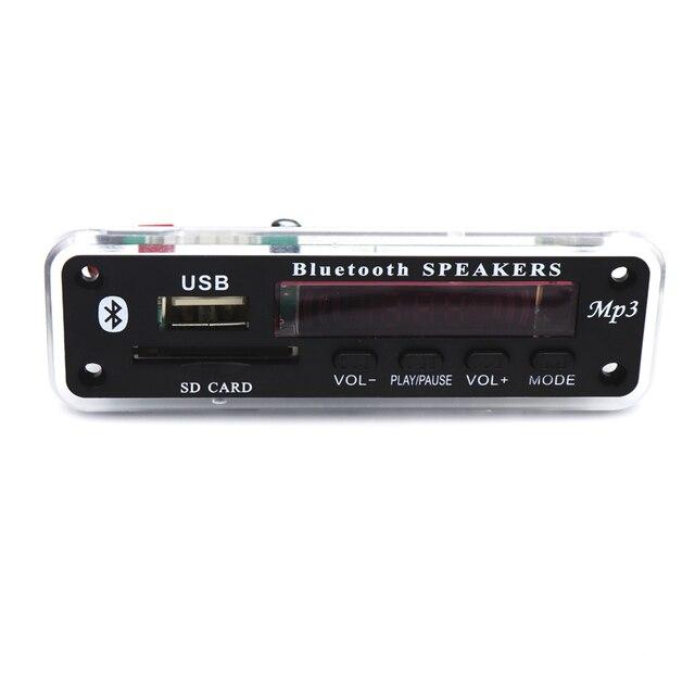 12V Wireless Bluetooth MP3 WMA Decoder Board Audio Module USB TF Radio Car Music MP3 Player Remote Control For Car accessories 4