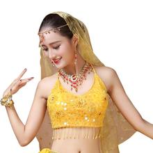 Sequins Indian Belly Dancing Tassel Bra Underwear Tops Belly Dancing
