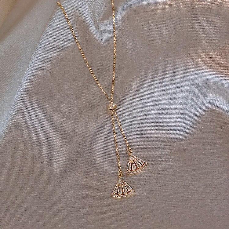 2019 New Arrival Crystal Vintage Women Dangle Earrings Earline Asymmetric Elegant Korean Jewelry