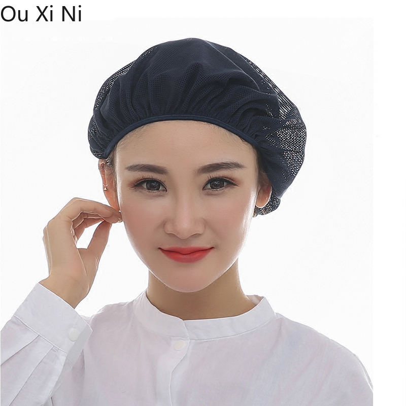 Wholesale10pce Chef Net Hat Cook Caps Kitchen Health Work Hats Canteen Restaurant Food Service Bakery Baking Female Job Cap