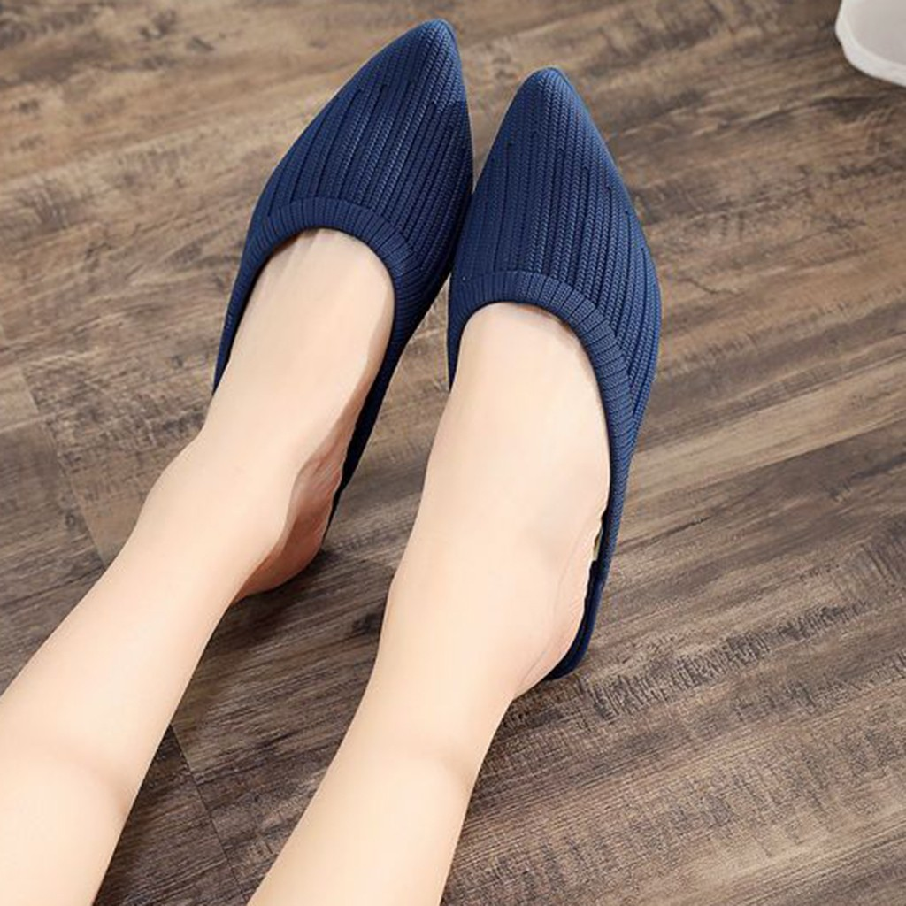 JAYCOSIN Slippers Women shoes Pointed Toe Wedges Elegant ladies shoes Woman Slip On Casual Shallow Mules Slipper Sandals zapatos 2