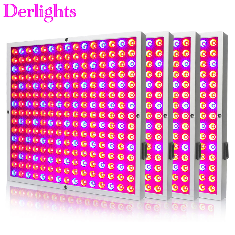 4PCS Full Spectrum 25W 45W Panel LED Grow Light 85~265V Commercial Grow Lamp for Indoor Greenhouse Tent Plant Flowering Growing