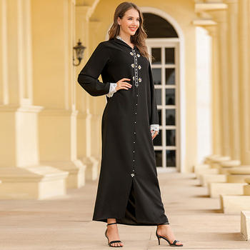 Eid Mubarak Robe Musulman De Mode Moroccan Kaftan Abaya Dubai Turkey Hijab Muslim Dress Islamic