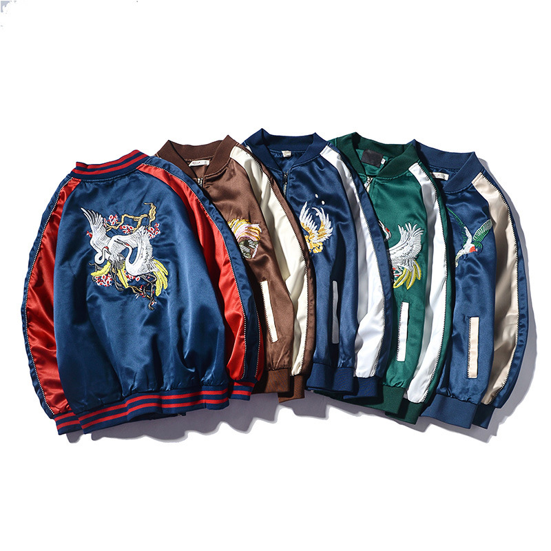 Men Jacket Yokosuka Embroidered Jacket Kong Jun Fu Korean-style Trend Baseball Uniform 2020 Autumn & Winter New Style