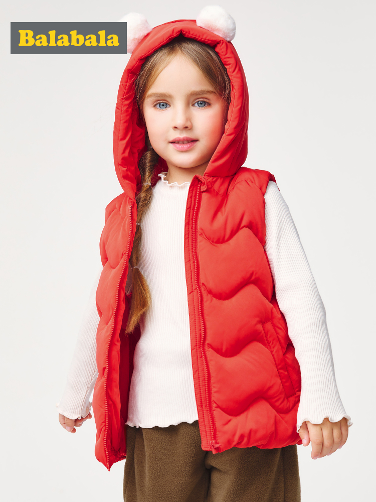 Kids Children Puffer Waistcoat Light Weight Hooded Padded Quilted Outerwear Coat