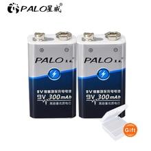 цены 1-12pcs 9V 6F22 300mAh ni-mh Rechargeable Battery 9 volt nimh ni mh Rechargeable batteries