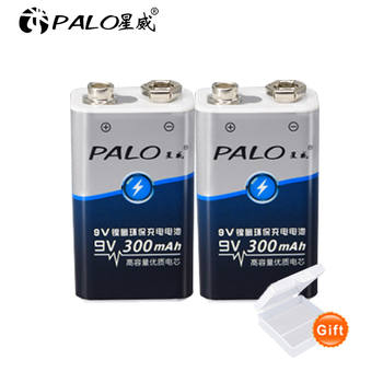 1-12pcs 9V 6F22 300mAh ni-mh Rechargeable Battery 9 volt nimh ni mh Rechargeable batteries цена 2017