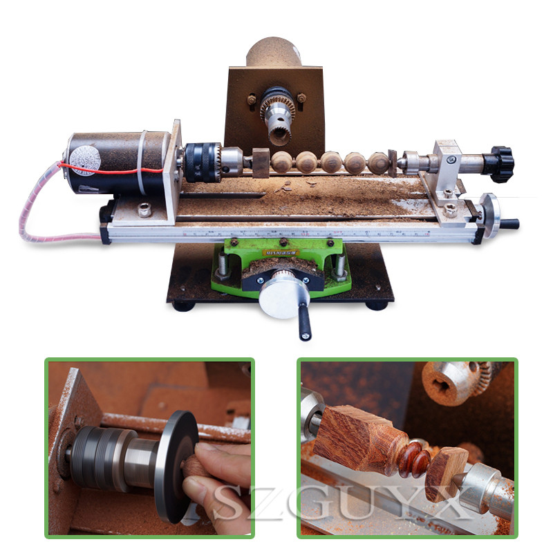 Household miniature bead machine Buddha beads drilling and polishing machine Round bead diy wood beads tool|Grinding Machine| |  - title=