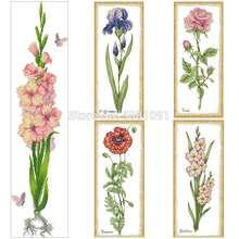 Набор для вышивки крестиком iris poppy rose gladiolus 11ct 14ct