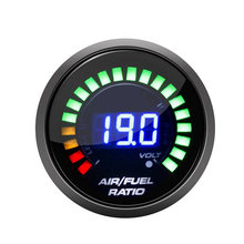 Измеритель соотношения воздуха и топлива, 2 дюйма, 52 мм, светодиодный цифровой дисплей с зауженным диапазоном, датчик кислорода O2, автомобил...