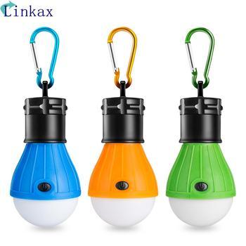 Lámpara LED para colgar en tienda, con pilas AAA, para exteriores, SOS, mosquetón de emergencia, luz de emergencia, linterna, lámpara de ahorro energético para senderismo