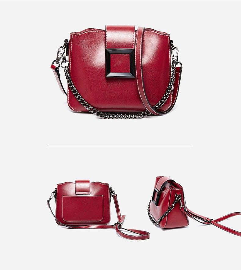 Novo 2019 moda feminina bolsas de couro