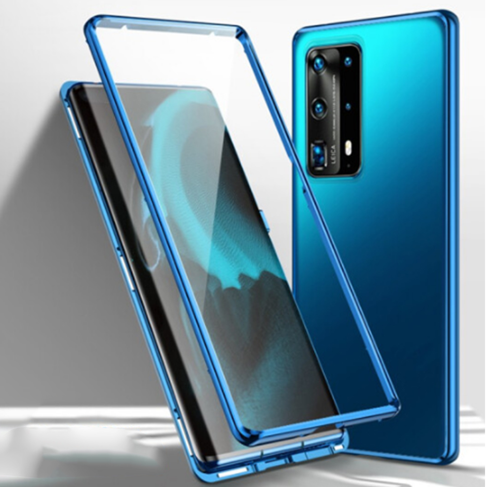 For Huawei P40 Pro Case Dual Tempered Glass Cover 360 Full Shockproof Phone Case For Huawei P 40 /Pro Cover Clear Magnet Clip