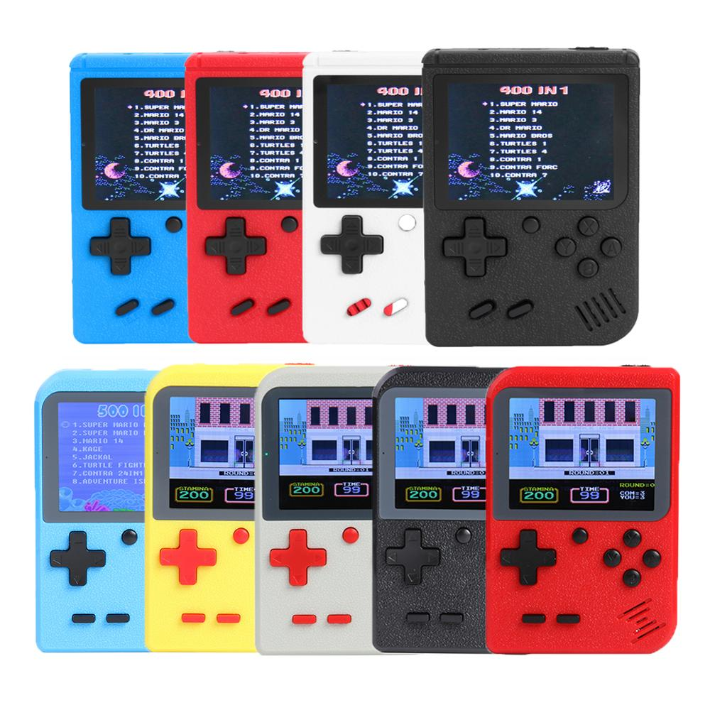 <font><b>3</b></font> inch Handheld Retro Game Console TFT color screen Built-in <font><b>400</b></font> Games 8 Bit Classical Game Player for FC Games Kids Toys Gifts image