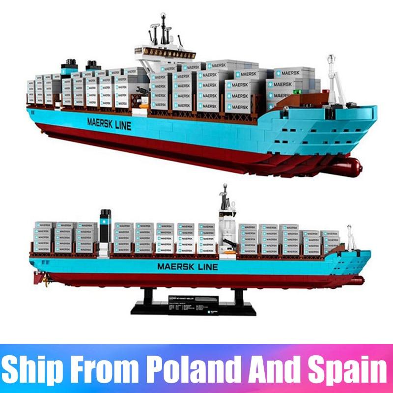Technic Serie 22002 De Maersk Cargo Container Schip Set Bouwstenen Bakstenen Schip Speelgoed Compatibel met 10241-in Blokken van Speelgoed & Hobbies op  Groep 1