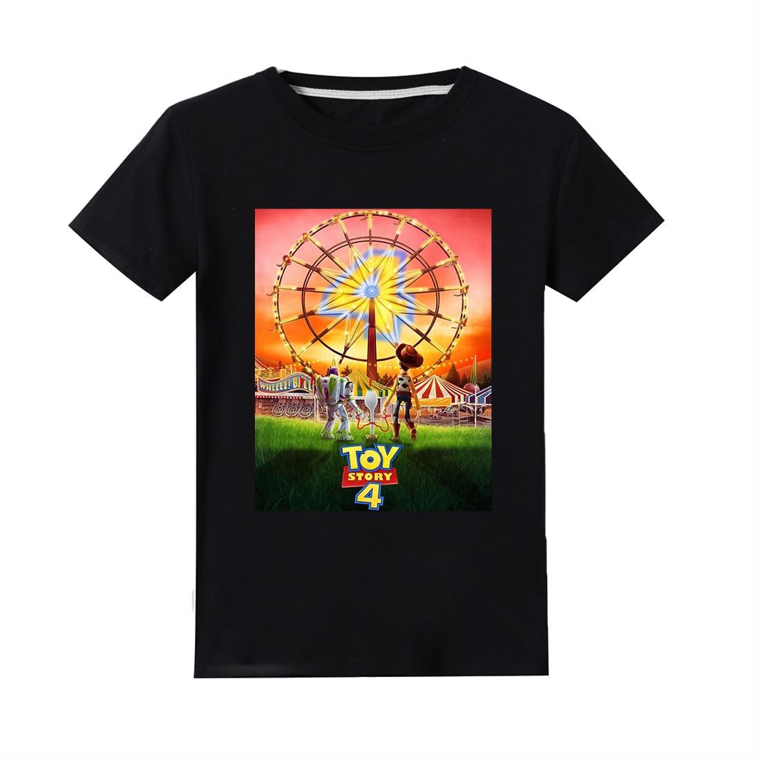 Новая детская футболка из 100% хлопка с героями мультфильма «История игрушек» Детская футболка из хлопка летняя одежда Базз Лайтер/Вуди