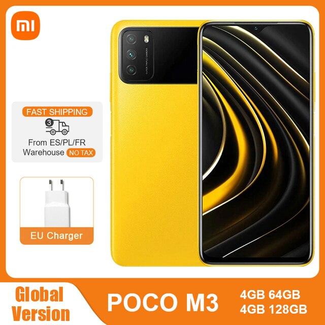 "Global Version POCO M3 4GB 64GB 128GB Snapdragon 662 Octa Core 6000mAh 48MP Triple Camera 6.53"" FHD+ DotDrop Display Smartphone 1"