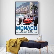 Posters and Prints 1966 Monaco Grand Prix Classic Motor Racing Art Silk Print Home Decor 24x36 - 27x40 inch HD