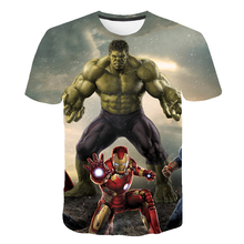Super-Hero Hulk- Spidermαn T Shirt Kids Boys Clothes Summer Short Sleeve Girls Tops Tees Children Clothing Kid Girl Tshirts Boy