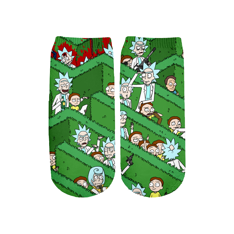 Newest Rick And Morty 3D Printed Cartoon Cute Short Ankle Socks For Men Women Harajuku Korean Socks  RS-015