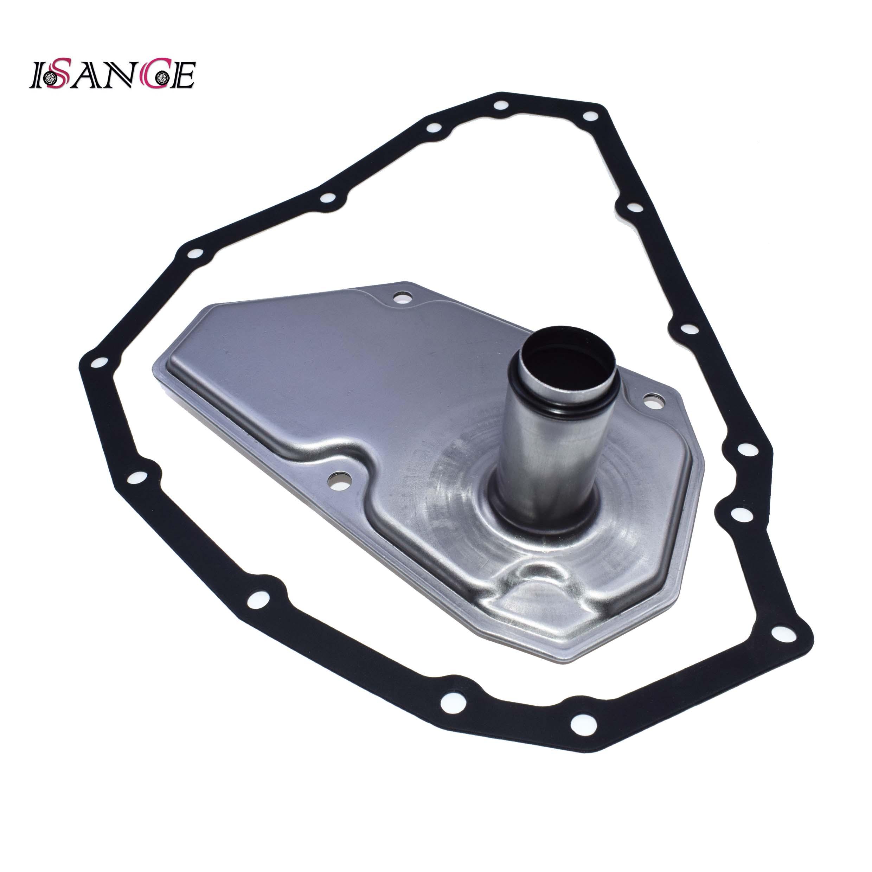 ISANCE Automatic Transmision Oil Filter 33010FJF015 + Pan Gasket 33300JF015 For Nissan Mitsubishi Suzuki CVT7 CVT JF015E ECVT(China)