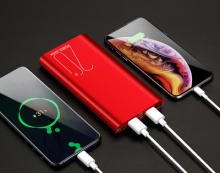 cell phone backup battery  power bank 20000mah  Double USB  Li-polymer Battery  Two-way Quick Charge цены онлайн