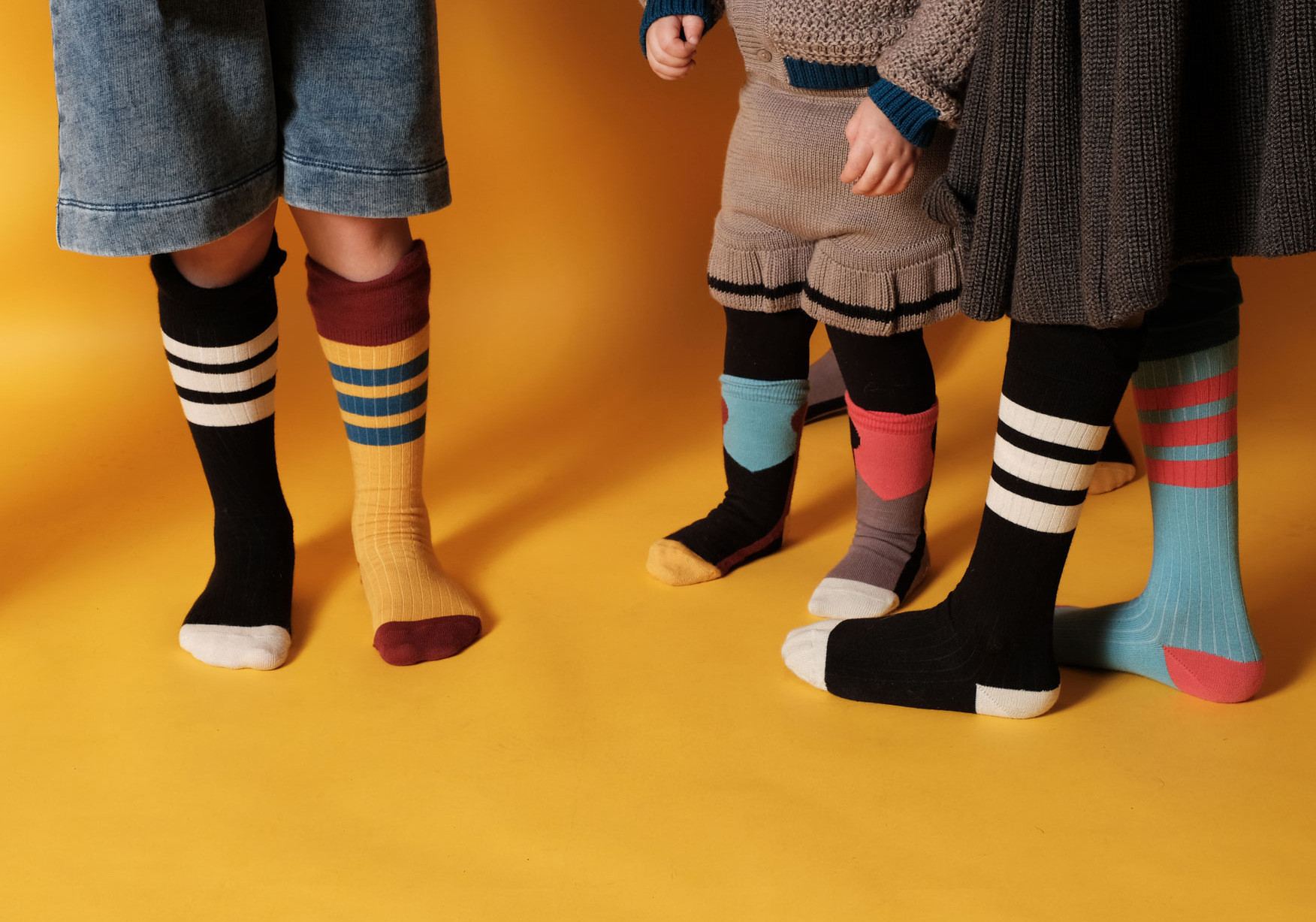 Spring And Autumn New Products Large Flounced Thin Stripes Western Style Men And Women Children Tube Socks