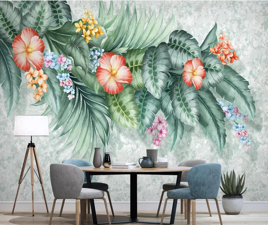Hand Painted Flower Wallpaper 3d Wall Paper Bedroom Contact Paper