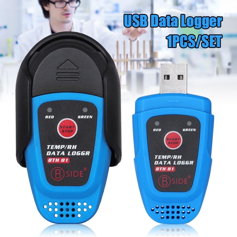 BTH81 Relative Humidity Temperature Recorder TEMP/RH Data Logger Moisture Meter With USB Port  Intelligent Temperature