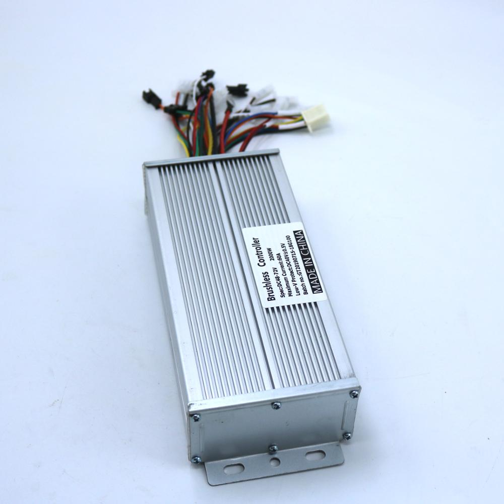 GREENTIME Sensor Sensorless 48V 72V 2000W 60Amax BLDC motor controller E bike brushless speed controller