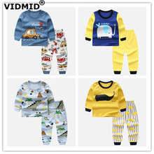 VIDMID Spring Baby Boys Clothing sets Long Sleeve t-shirts+pants Boys Clothing Sets cotton casual Kids Clothes for Boys 4051 costumes for newborns baby boys infant pullover clothes for babies loungewear layette sets t shirts pants for girls clothing set