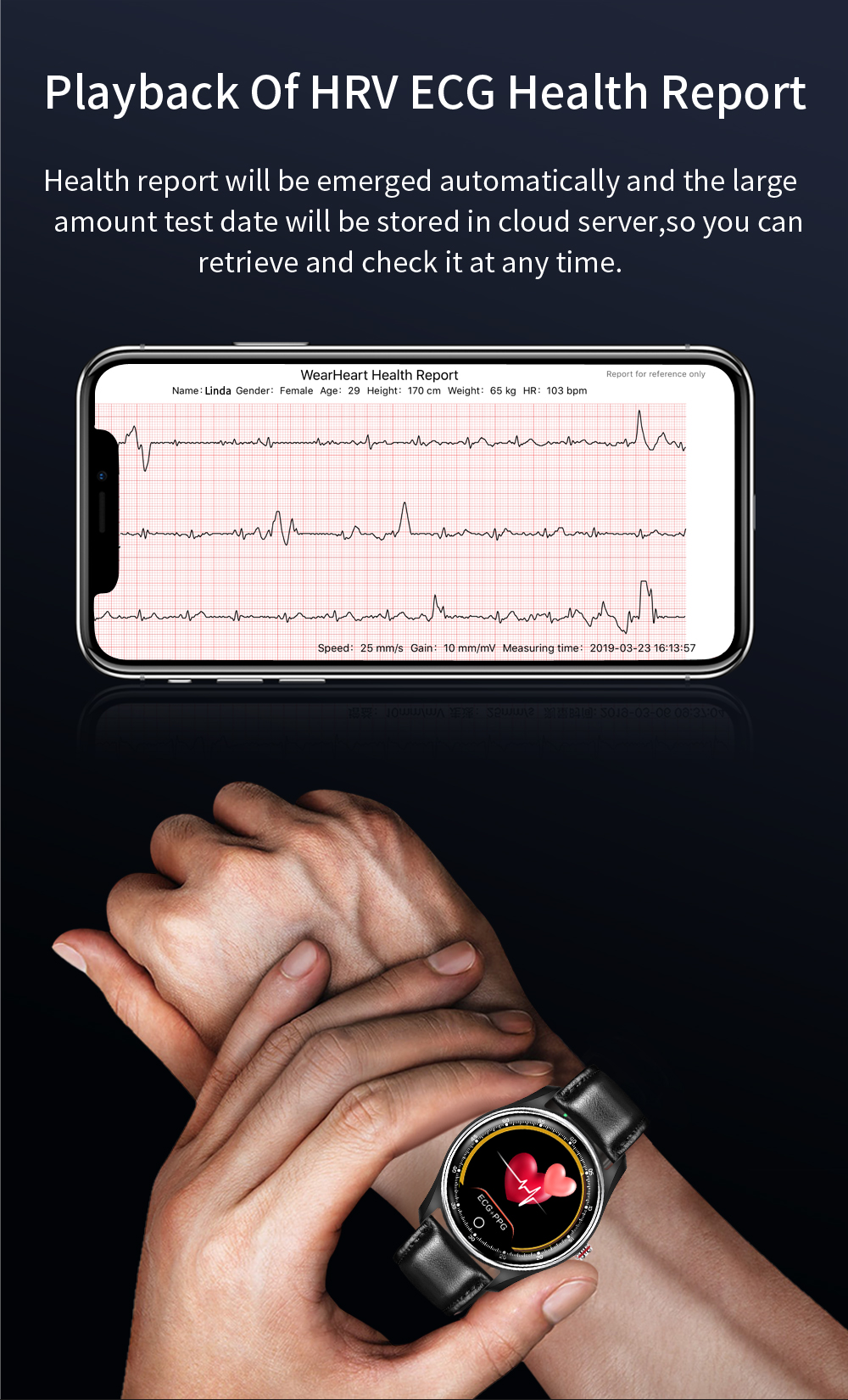 JM ECG PPG Smartwatch for Android & IOS