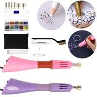 1 Set 100 240V Hot Drilling Machine Pen Point Figure Hot Guns DIY Clothes Stick Diamond Drill Tools Set Crystal Hand Sewing Kit